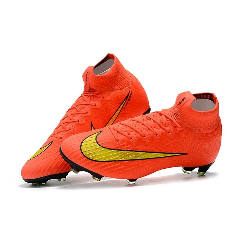 reputable site 56f01 3ea58 Nike Mercurial Superfly VI FG Crampons de Football - Orange Jaune Zoom.  Précédent. Suivant
