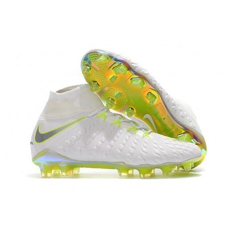 Nike Crampons de Foot HyperVenom Phantom 3 DF FG - Blanc Gris Volt