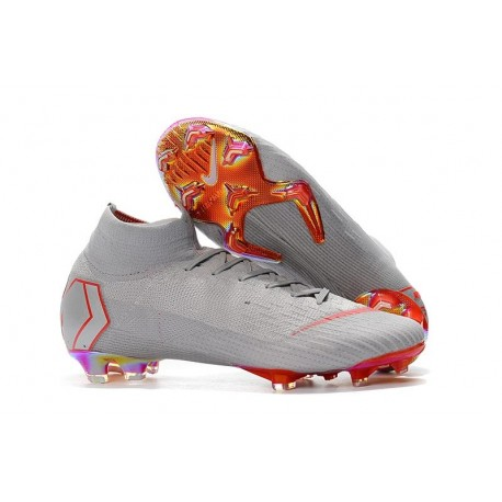 Coupe du Monde 2018 Nike Mercurial Superfly 6 Elite FG - Gris Rouge
