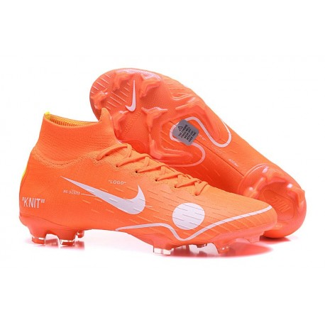 2018 Nike Off-white Mercurial Superfly 6 Elite FG - Orange