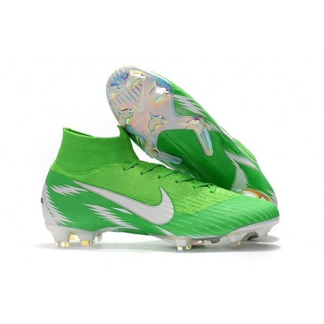 Coupe du Monde 2018 Nike Mercurial Superfly 6 Elite FG - Vert Blanc