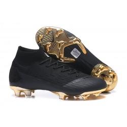 Coupe du Monde 2018 Nike Mercurial Superfly 6 Elite FG - Noir Or