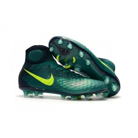 Nike Crampons de Foot Magista Obra 2 FG ACC Vert Jaune