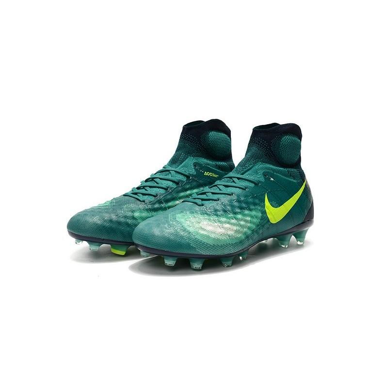 online retailer de63a 249d8 Nike Crampons de Foot Magista Obra 2 FG ACC Vert Jaune