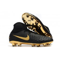 Nike Crampons Football Magista Obra 2 DF FG - Noir Or