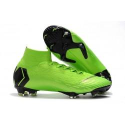 Nike Mercurial Superfly VI Elite FG Crampons de Foot - Vert Noir