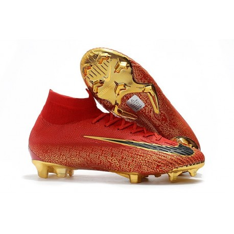 Nike Mercurial Superfly VI Elite FG Crampons de Foot - Rouge Or