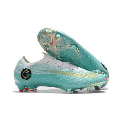 Nike Mercurial Vapor XII 360 Elite FG Chaussure Ronaldo - Bleu/Blanc/Or