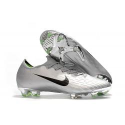 Nike Mercurial Vapor 12 Elite FG Crampons de Football Argent Noir