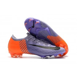 Nike Mercurial Vapor 12 Elite FG Crampons de Football Violet Orange Noir