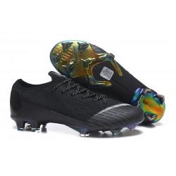 Nike Mercurial Vapor 12 Elite FG Crampons de Football Noir Blanc