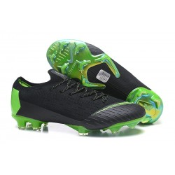 Nike Mercurial Vapor 12 Elite FG Crampons de Football Noir Vert