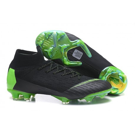 Nike Mercurial Superfly VI Elite FG Crampons de Foot - Noir Vert