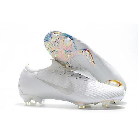 Nike Mercurial Vapor 12 Elite FG Crampons de Football Blanc