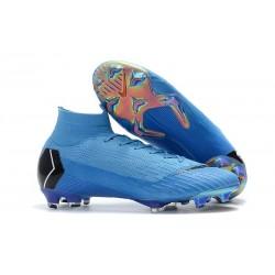 Nike Chaussures Mercurial Superfly 6 Elite FG - Bleu Noir