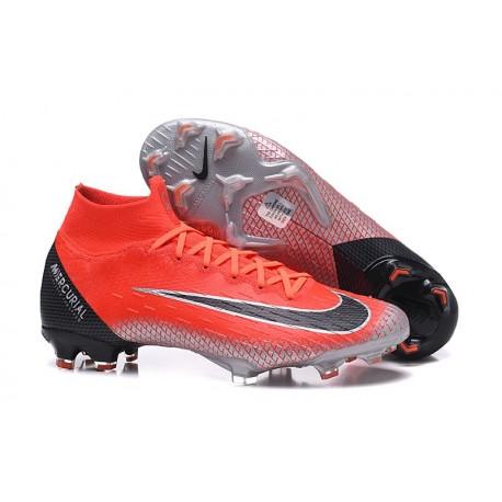 Nike Chaussures Mercurial Superfly 6 Elite FG - Rouge Noir