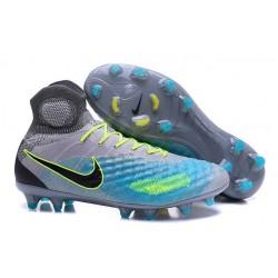 Nike Crampons de Foot Magista Obra 2 FG ACC Gris Bleu Noir