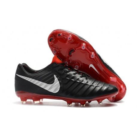 Nike Chaussure Foot Tiempo Legend 7 Elite FG - Noir Rouge Argent
