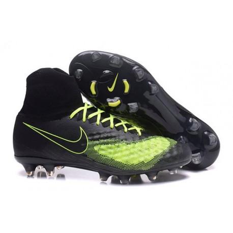 Nike Crampons de Foot Magista Obra 2 FG ACC Noir Jaune