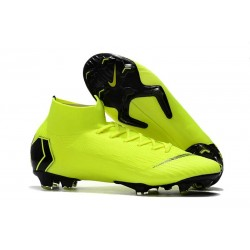 Crampons de Football Nike Mercurial Superfly VI Elite FG - Volt Noir