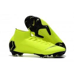 Crampons de Football Nike Mercurial Superfly VI Elite FG - Volt Noir