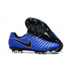 Nike Chaussure Foot Tiempo Legend 7 Elite FG - Bleu Noir