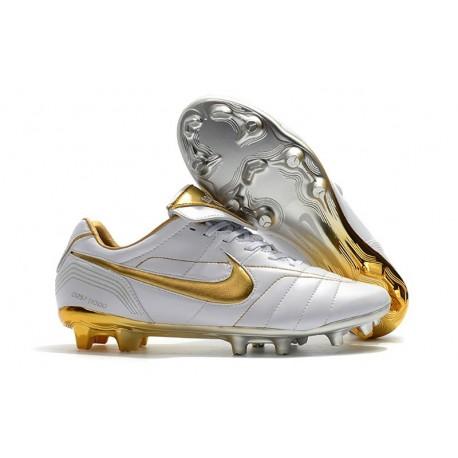 Nike Chaussure Foot Tiempo Legend 7 R10 Elite FG - Blanc Or
