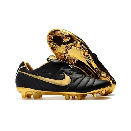 Nike Chaussure Foot Tiempo Legend 7 R10 Elite FG - Noir Or