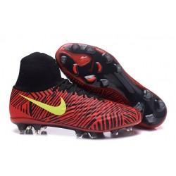 Nike Crampons de Foot Magista Obra 2 FG ACC Rouge Noir Jaune