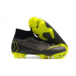 Crampons de Football Nike Mercurial Superfly VI Elite FG - Noir Jaune