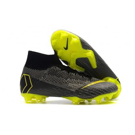 Crampons de Football Nike Mercurial Superfly VI Elite FG - Noir Jaune