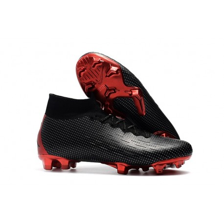 Nike x Jordan Mercurial Superfly VI Elite FG - Noir Rouge