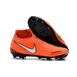 Nike Phantom VSN Elite Dynamic Fit FG Crampons - Orange Noir Blanc