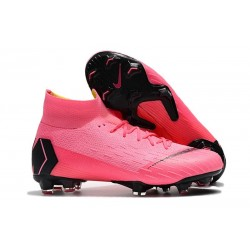 Crampons de Football Nike Mercurial Superfly VI Elite FG - Rose Noir
