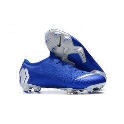 Crampons Nouvel Nike Mercurial Vapor 12 Elite FG - Bleu Argent