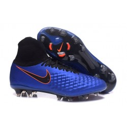 Nike Magista Obra II FG Nouveau Chaussure de Foot Bleu Noir