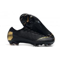 Crampons Nouvel Nike Mercurial Vapor 12 Elite FG - Noir Or
