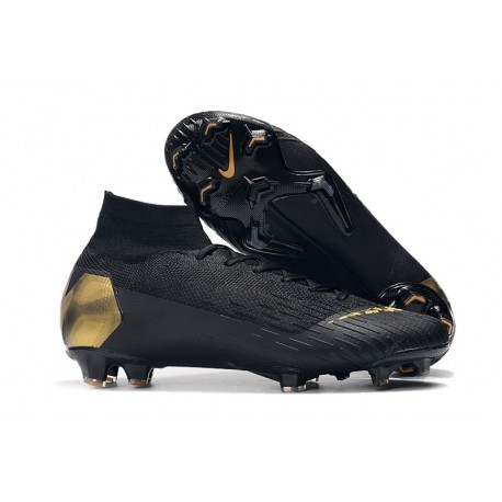 Crampons de Football Nike Mercurial Superfly VI Elite FG - Noir Or