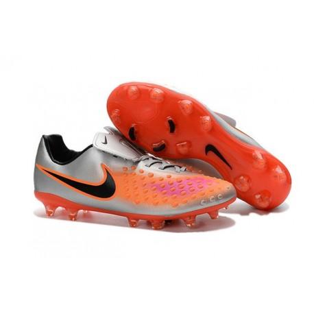 Nike Magista Opus FG ACC Chaussures de Football Argent Orange