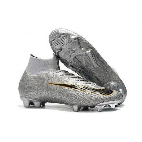 Crampons de Football Nike Mercurial Superfly VI Elite FG - Argent Noir