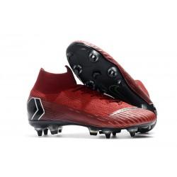 Nike Mercurial Superfly VI Elite SG-Pro AC Chaussures Rouge Noir