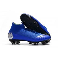 Nike Mercurial Superfly VI Elite SG-Pro AC Chaussures Bleu Argent