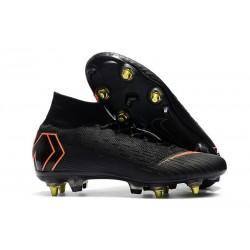 Nike Mercurial Superfly VI Elite SG-Pro AC Chaussures Noir Orange