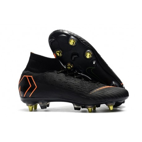 Nike Mercurial Superfly VI Elite SG-Pro AC Chaussures Noir Orange