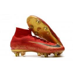 Nike Mercurial Superfly VI Elite SG-Pro AC Cristiano Ronaldo Rouge Or