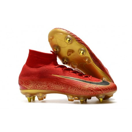 Nike Mercurial Superfly VI Elite SG-Pro AC Cristiano Ronaldo Rouge Or
