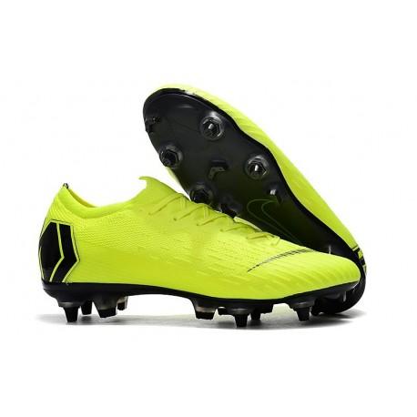Nike Mercurial Vapor 12 SG-Pro Anti Clog Homme Volt Noir