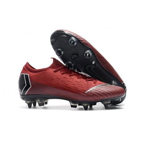 Nike Mercurial Vapor 12 SG-Pro Anti Clog Homme Rouge Noir