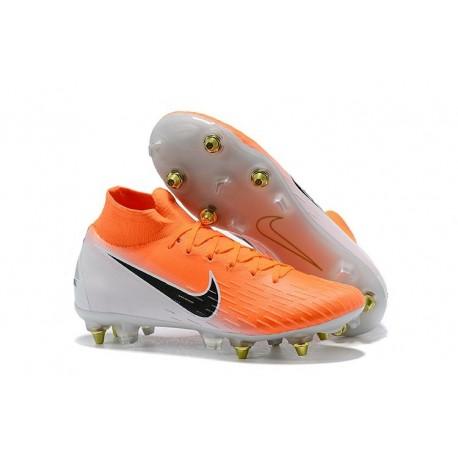Nike Nouveau Mercurial Superfly 6 Elite SG-Pro AC Orange Blanc