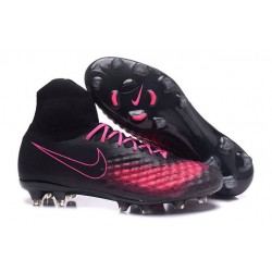 Nike Magista Obra II FG Nouveau Chaussure de Foot Noir Rose